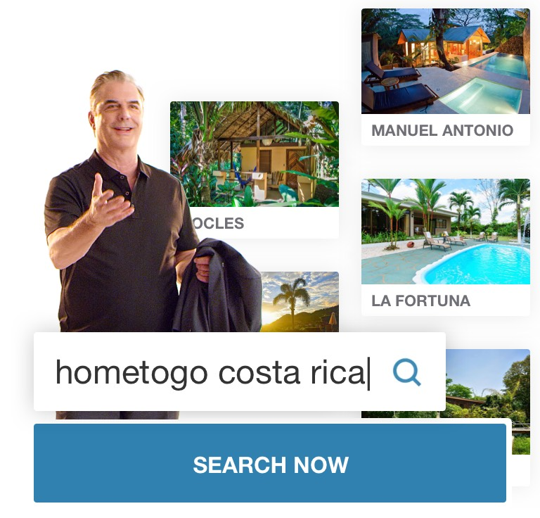 Chris Noth starring in HomeToGo's national TV ad campaign