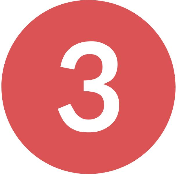 red number three icon