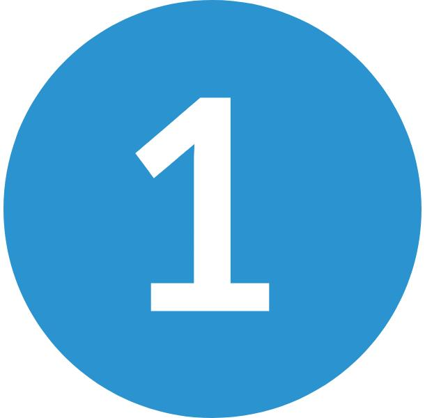 blue number one icon
