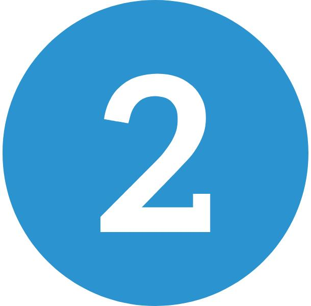 blue number two icon