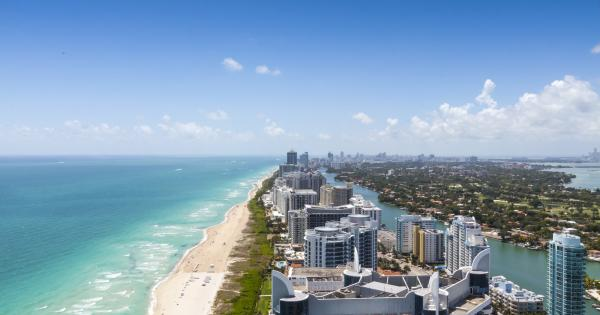 View of the beach in Miami