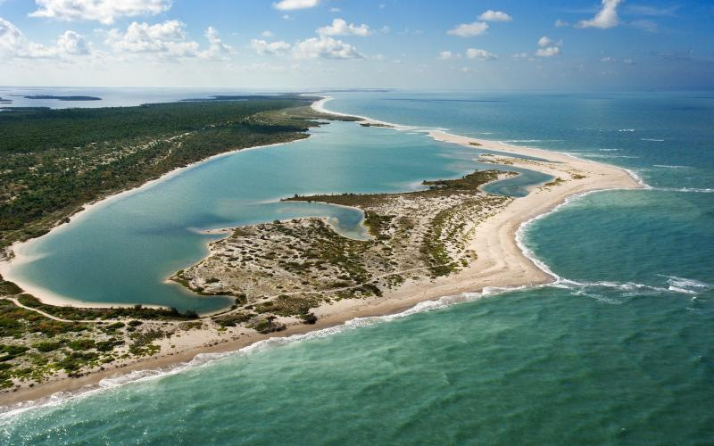 View of Cayo Costa and the Floridian coastline