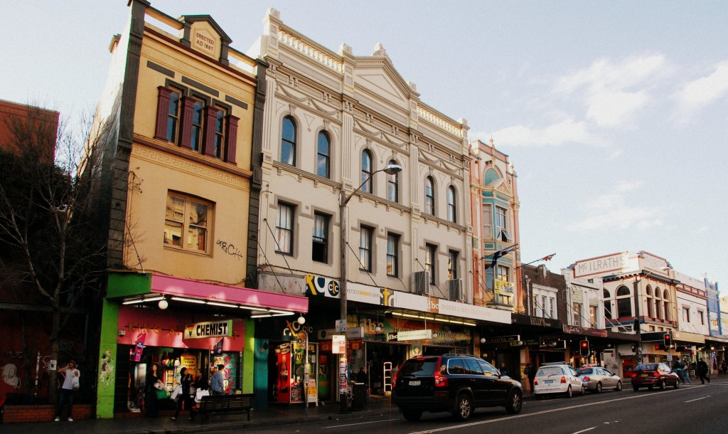 Shops on King Street Newtown