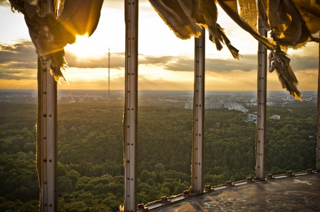 View over the Berlin forests from Teufelsberg