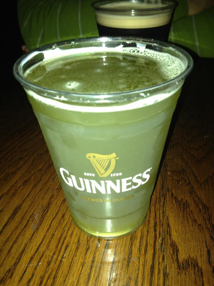 Green Guiness is a big no-no. Photo via FlickrCC.