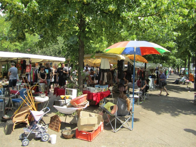 Flea Market at Boxhagener Platz. Photo by La Citta Vita.