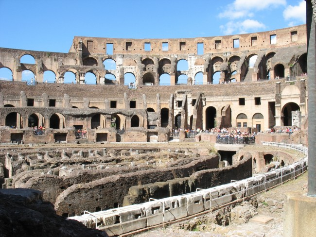 Ruins of the roman Colosseum
