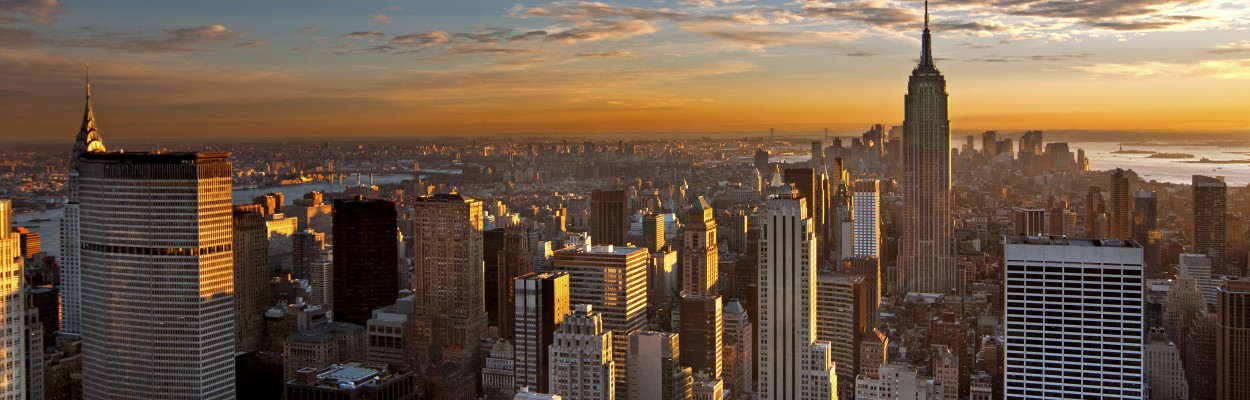 Sunset over Manhattan, New York City