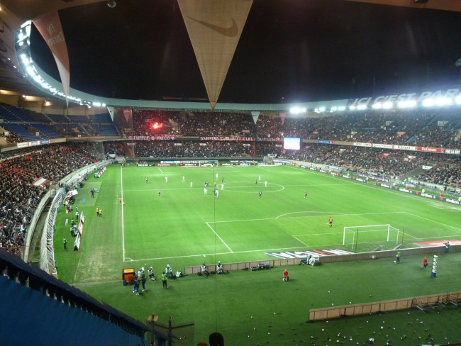 View over Parc de Princes stadium