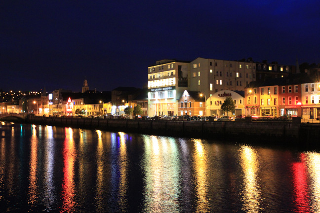 Cork City by night. Photo via FlickrCC.