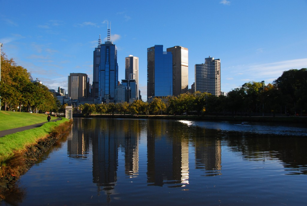 View over Yarra River Melbourne