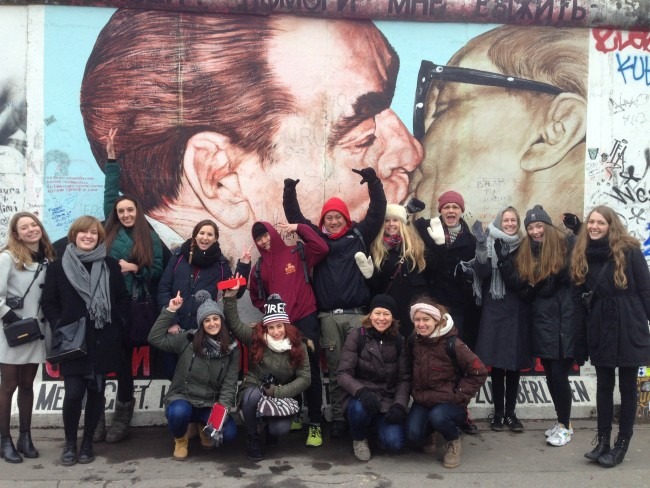 A photo of an Original Berlin Tours group at the East Side Gallery, Berlin