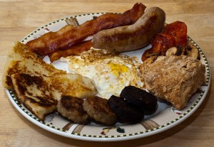 More or less a traditional Irish breakfast. Photo via FlickrCC