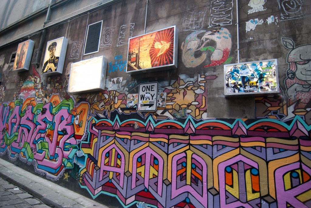 Street Art on Hosier Lane Melbourne