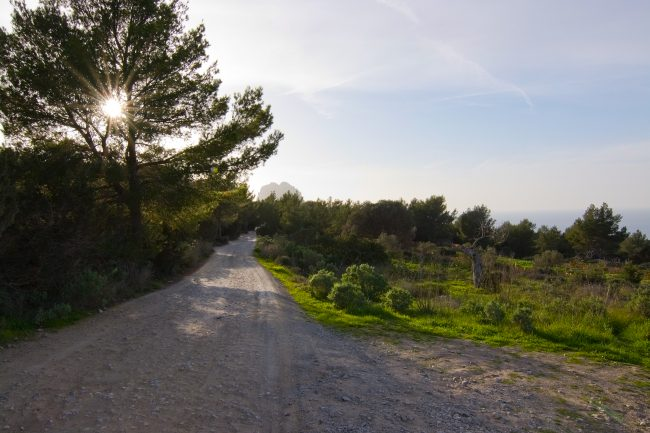 Walking and cycling trails criss-cross Ibiza's rugged landscape