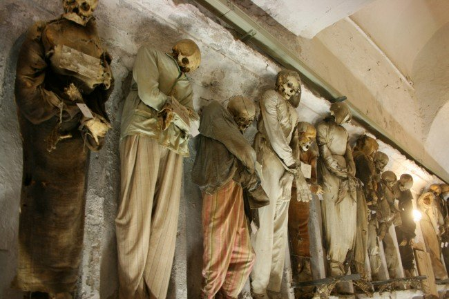 Capuchin Catacombs in Palermo. Photograph by jafsegal via Flickr CC