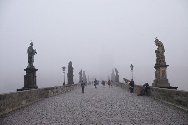 Charles Bridge in Prague. Photograph by romanboed via Flickr CC