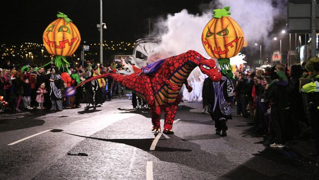 Banks of the Foyle Halloween Carnival. Photograph by Greg Clarke