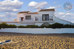 View across the beach of a Wimdu villa in Mijas